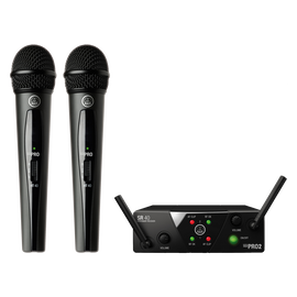 WMS40 Mini Dual Vocal Set Band-US25-B/D - Black - Wireless microphone system - Hero