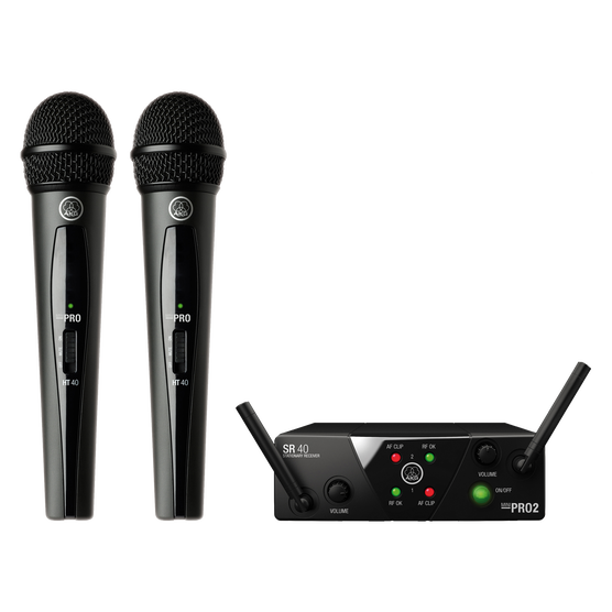 WMS40 Mini Dual Vocal Set Band-US25-A/C - Black - Wireless microphone system - Hero