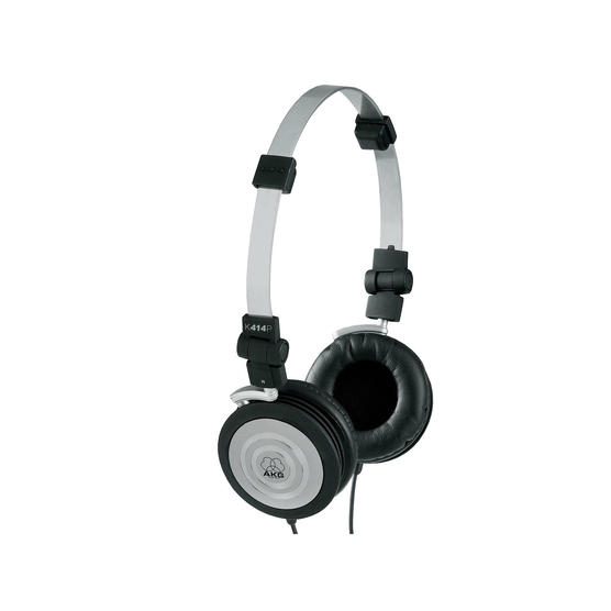K414 P - Black - Lightweight closed-back headphones - Hero