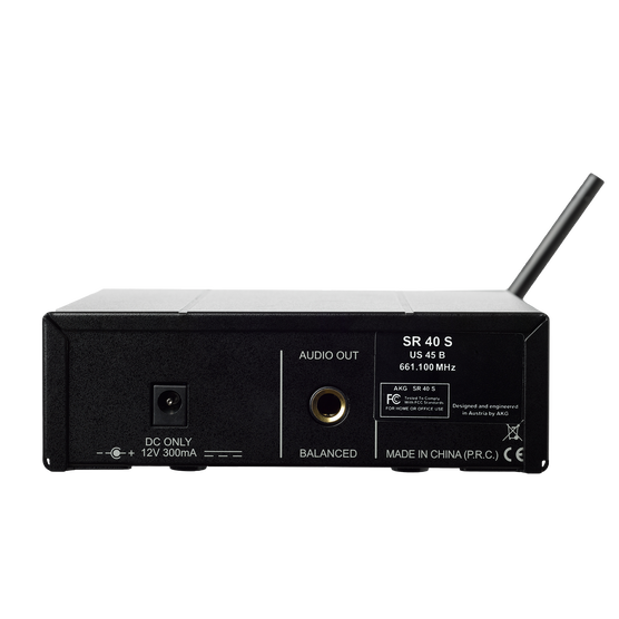 WMS40 Mini Vocal Set Band-US25-C - Black - Wireless microphone system - Back