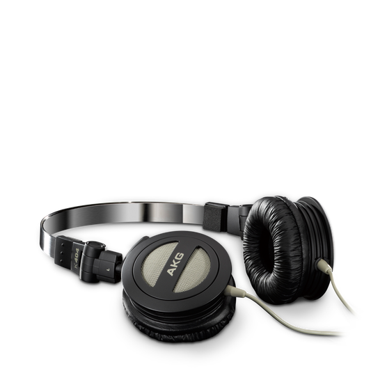 K404 - Black - Folding mini stereo headphones with superior sound quality and portability - Hero