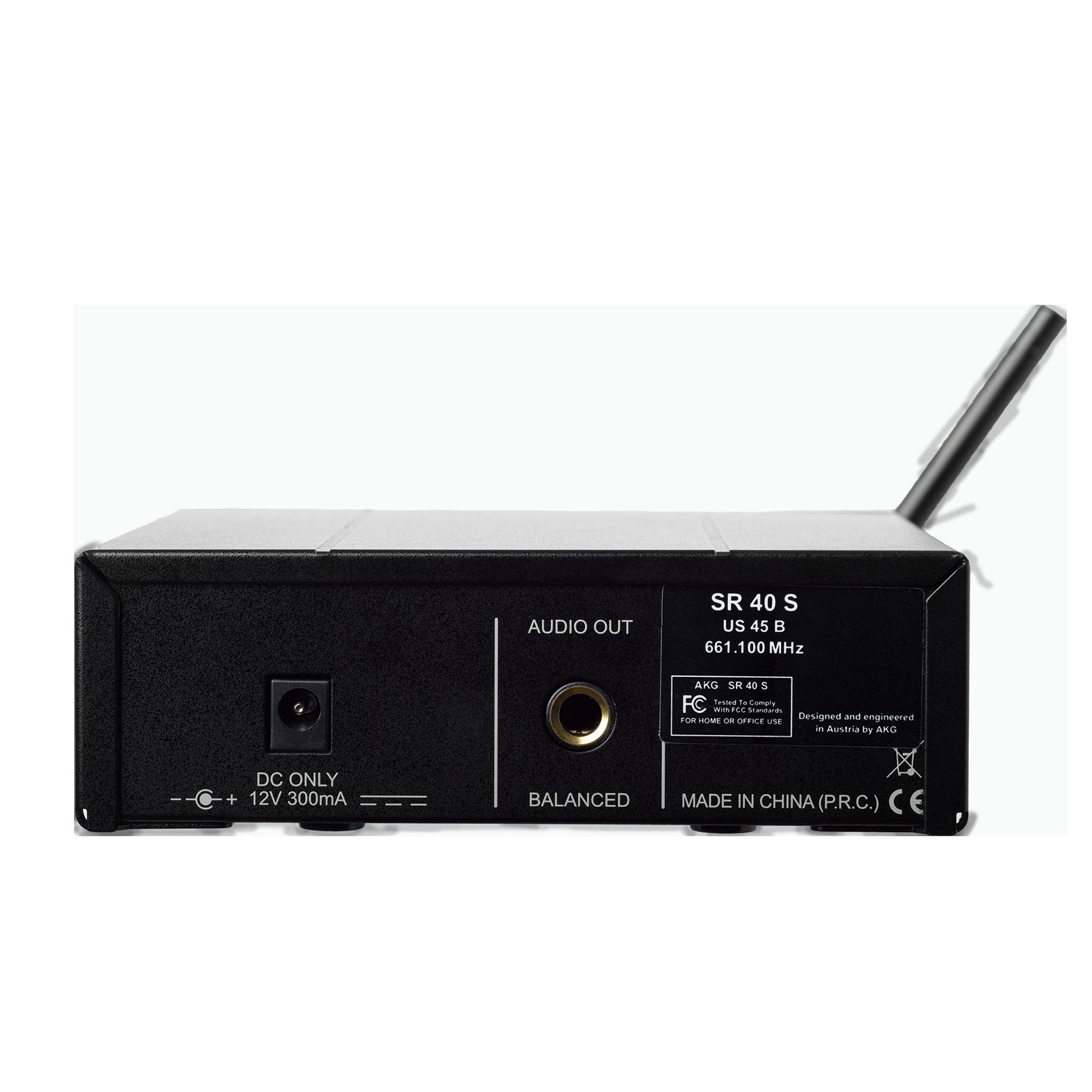 WMS40 Mini Single Vocal Set - Black - Wireless microphone system - Back