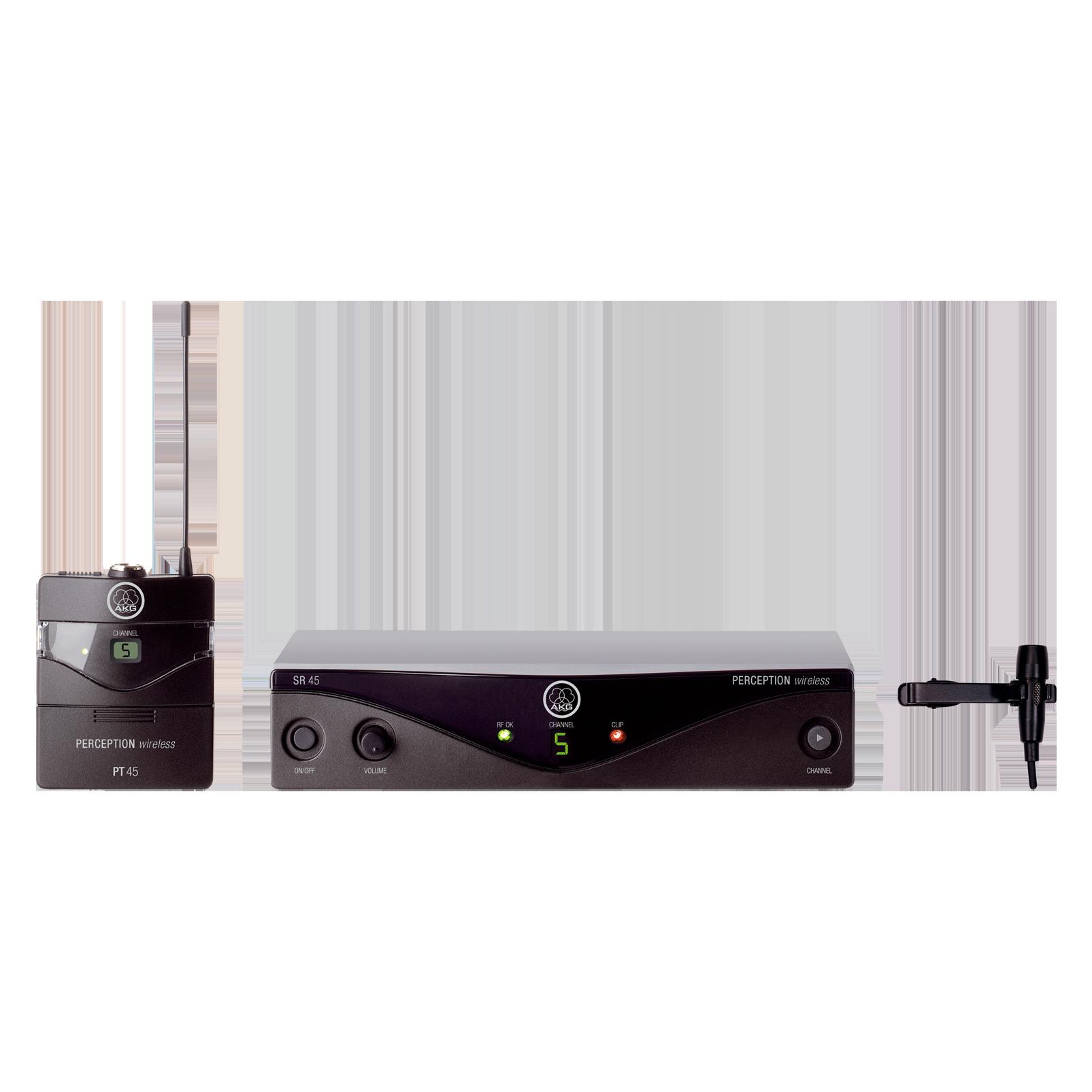 Perception Wireless 45 Presenter Set Band-A - Black - High-performance wireless microphone system - Hero