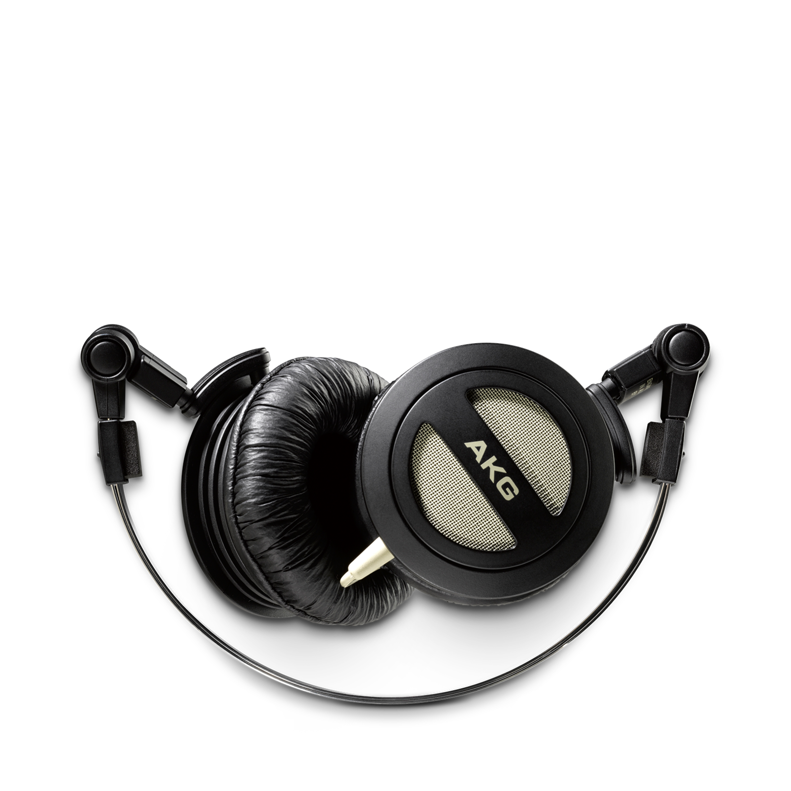 K404 - Black - Folding mini stereo headphones with superior sound quality and portability - Detailshot 1